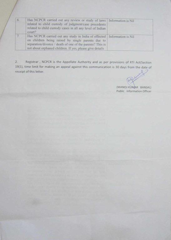 RTI-NCPCR-Reply-Divorce-Effect-Children