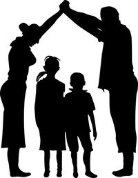 shared-parenting-parents-umbrella-children-image